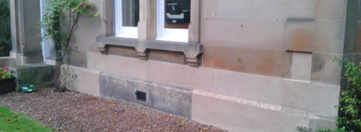 Stone building repairs