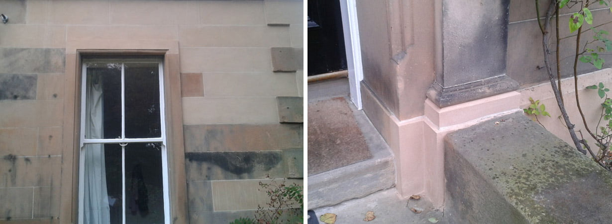 Masonry repair to doorway