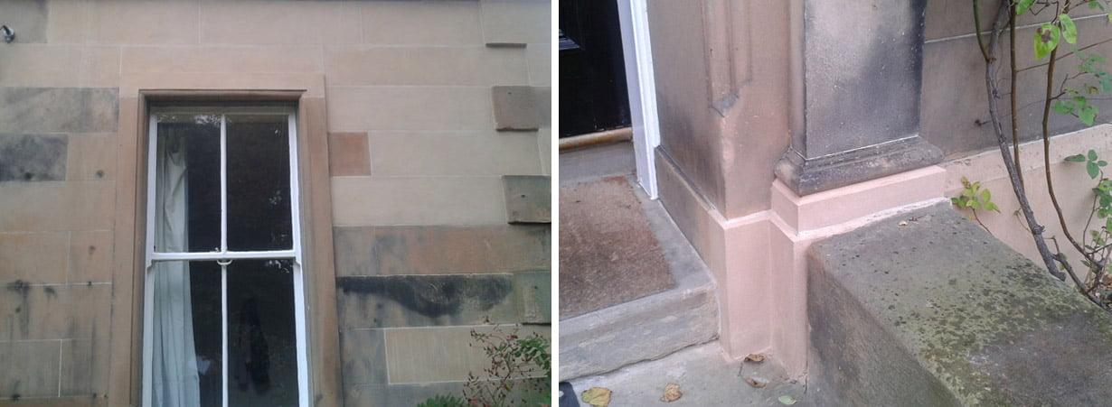 Masonry repair to doorway