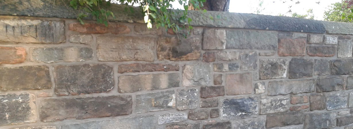 Stone wall repaired